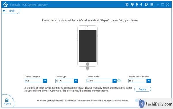 Récupération du système iOS, vérifiez les informations de votre système iOS sur Windows