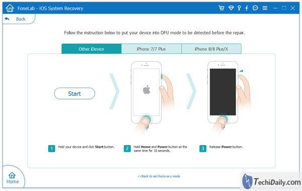 Récupération du système iOS, Trun vos appareils en mode de récupération ou DFU sous Windows