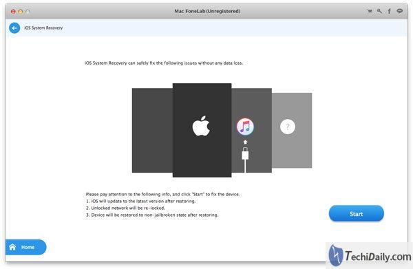 Récupération du système iOS Vérifiez les situations de panne du système de vos appareils sur Mac