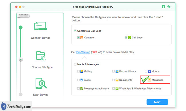 android data recovery select photo