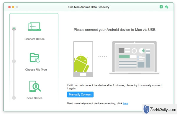 connection android data recovery