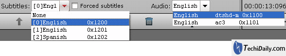 Select wanted subtitles and audio track for convert Blu-ray movies for viewing