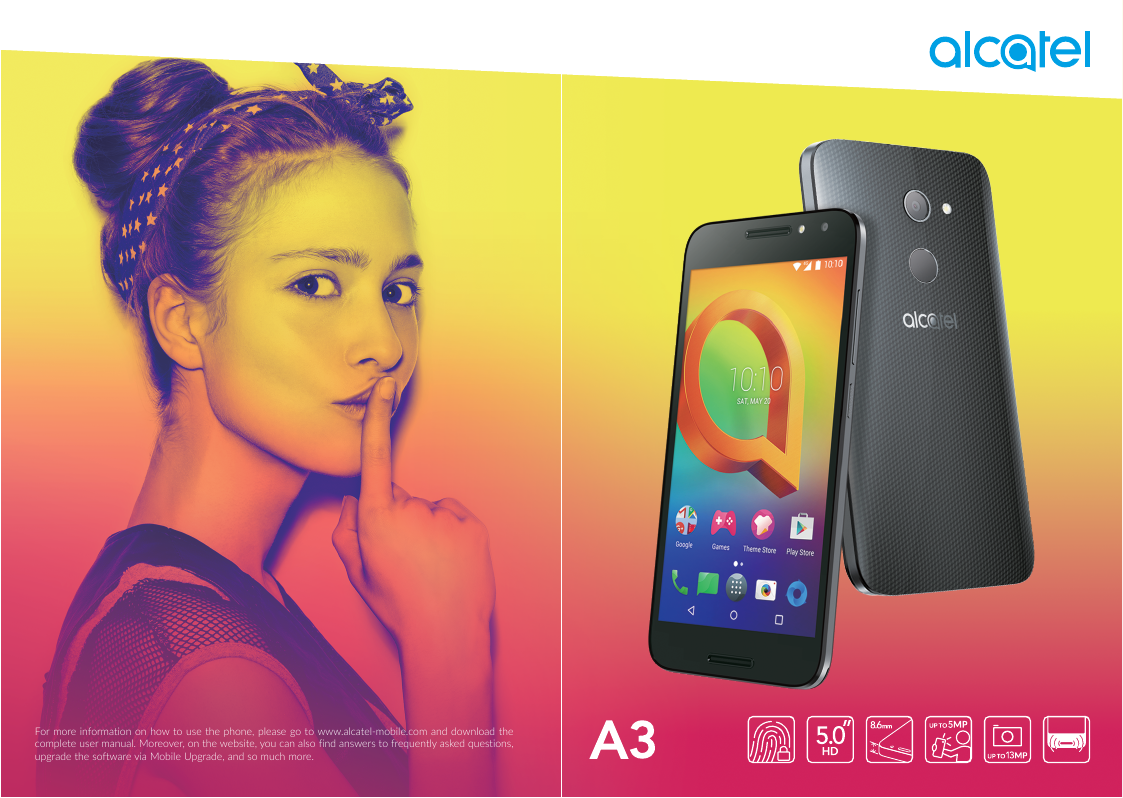 Unlock android phone if you forget the Alcatel A3 password or