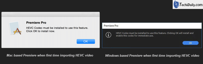 Where to download HEVC H 265 codec for Premiere? | TechiDaily