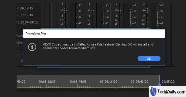 How to install HEVC codec for Premiere on Mac or Windows